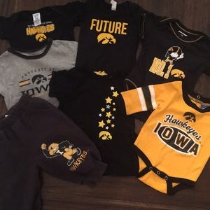 7 piece Iowa Hawkeye baby onesie/tops/pants